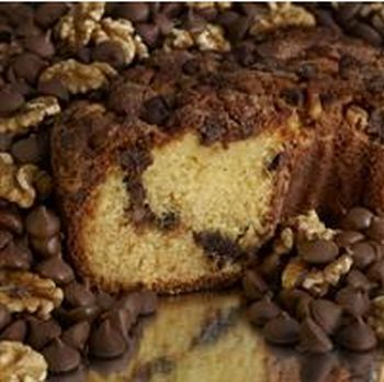 My Grandma CCLGCLN Large- 10 in.- 3.1 lbs Lower Fat Chocolate Chip Coffee Cake, No Nuts