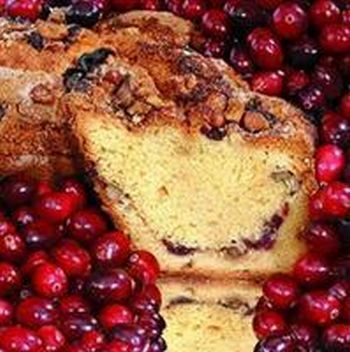 My Grandma CRSMCLN Small- 8 in.- 1.75 lbs Lower Fat Cape Cod Cranberry Coffee Cake, No Nuts