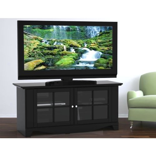 "Nexera 100606 56"" Pinnacle TV Console with Glass Doors"