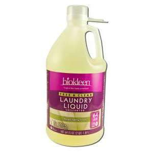 Biokleen 717256000639 Free Clear Laundry Liquid Allergen-Fighting Formula - 64-Ounce Bottles - Pack Of 6