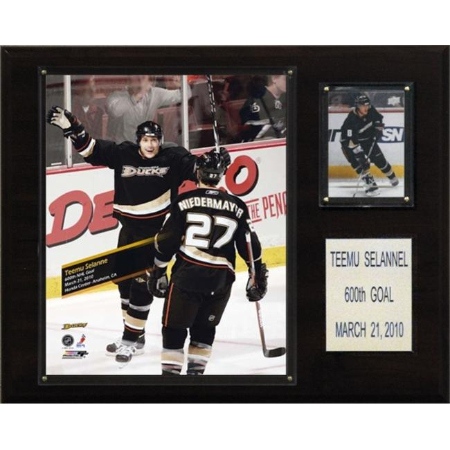 C & I Collectables 1215TEEMU600 NHL Teemu Selanne Anaheim Ducks 600th Goal Plaque