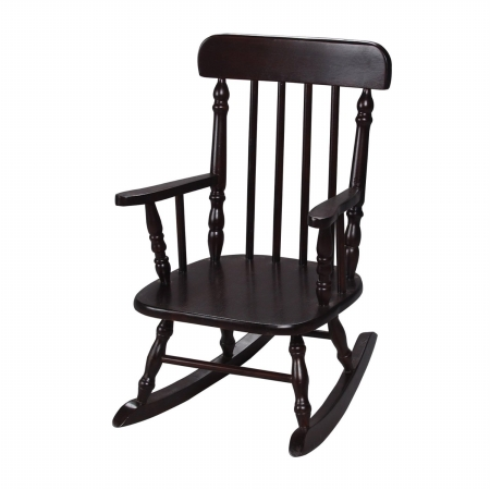 Giftmark 1410E Deluxe Children's Spindle Rocking Chair Espresso