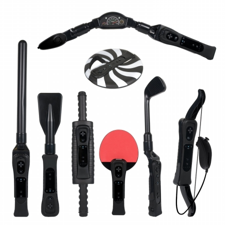 Cta Wi-8Srb Nintendo Wii - Tm8-In-1 Sports Pack For Wii Sport Resort - Black