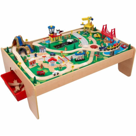 Kid Kraft 17850 Waterfall Mountain Train Set and Table