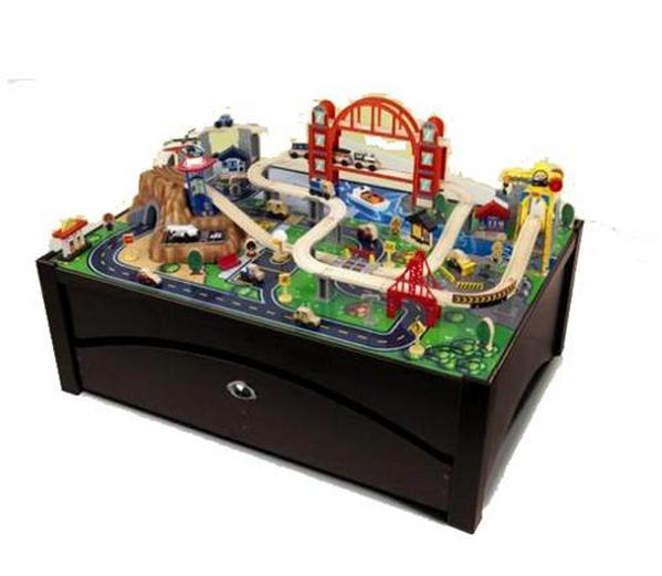 Kid Kraft 17935 Metropolis Train Table and Set