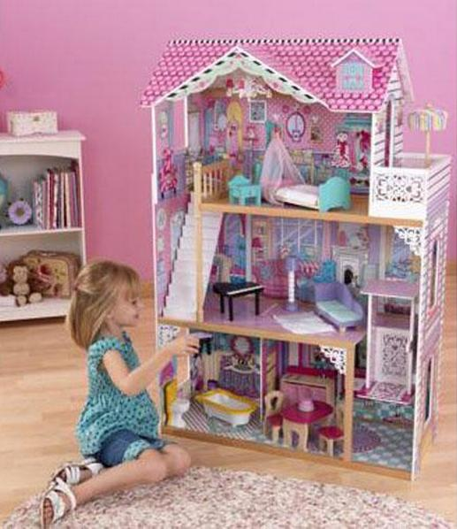 Kid Kraft 65079 Annabelle 3-Story Dollhouse with Chandelier & Elevator