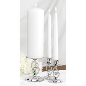 Hortense B. Hewitt 10805 Sparkling Love Candle Stand Set HBH2737