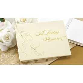 Swirl Dots Memory Guest Book