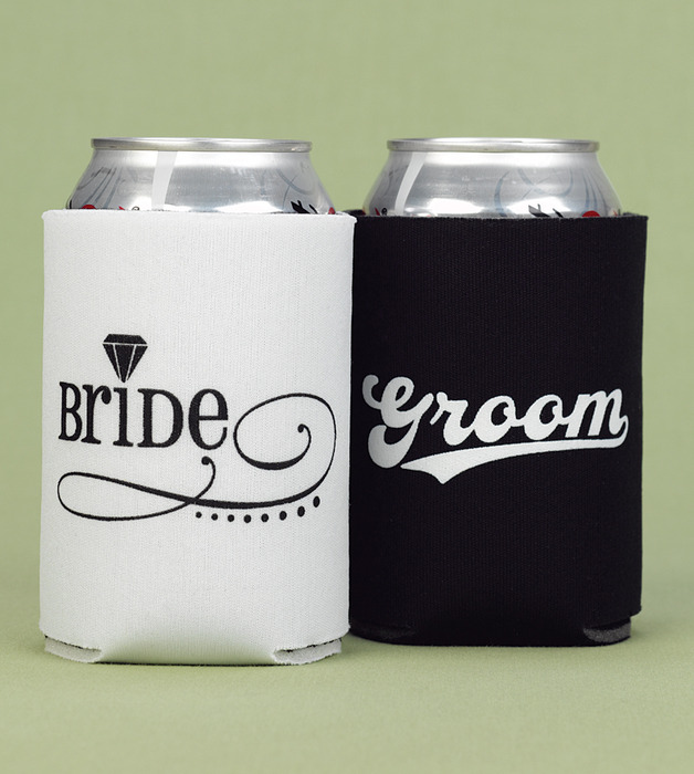 Hortense B. Hewitt 11045 Bride and Groom Can Cooler Set