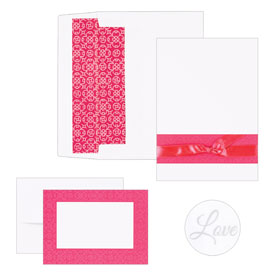 Hortense B. Hewitt 10721 Fuchsia Band Invitation Kit