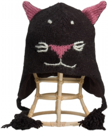 Nirvanna Designs CH Catblack K Black Cat Hat Kids