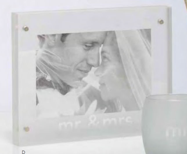 Santa Barbara CFRM1000C Studio Wedding Photo Frame Mr and Mrs