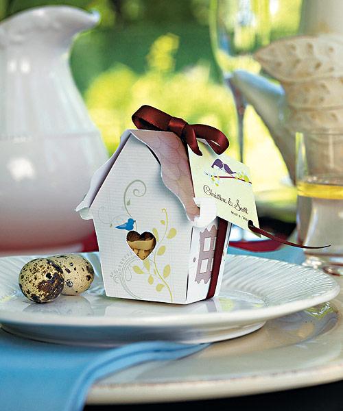 Wedding Star 9099 Sweet Bird House Favor Box