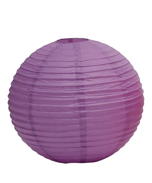 Wedding Star 9108-04 Round Paper Lanterns- Small- Lavender