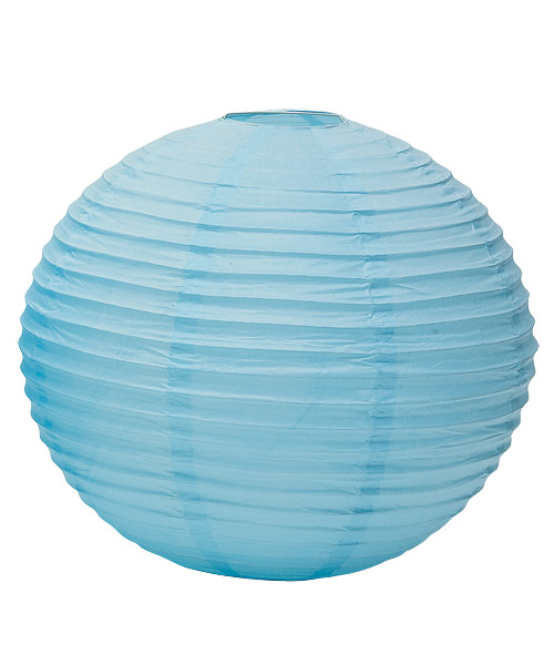 Wedding Star 9108-29 Round Paper Lanterns- Small- Aqua Blue