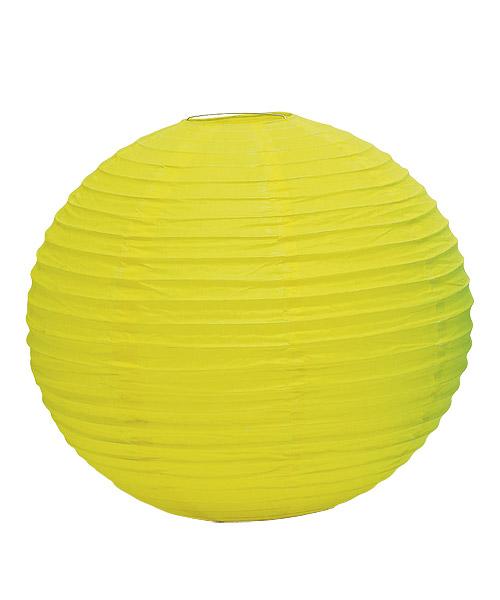 Wedding Star 9109-09 Round Paper Lanterns- Medium- Lemon Yellow