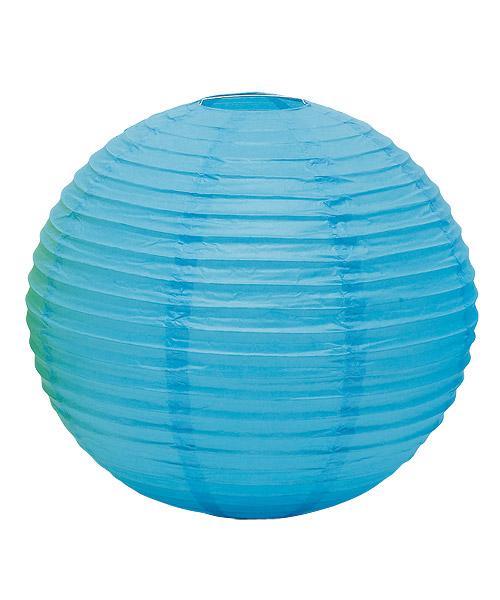Wedding Star 9109-28 Round Paper Lanterns- Medium- Caribbean Blue