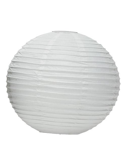 Wedding Star 9110-08 Round Paper Lanterns- Large- White