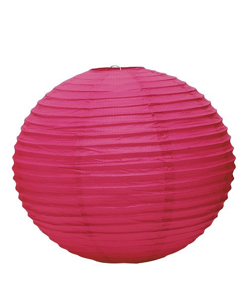 Wedding Star 9110-31 Round Paper Lanterns- Large- Fuchsia