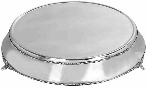 A nation  15963 19 in. Fabulous Round Wedding Cake stands Plate