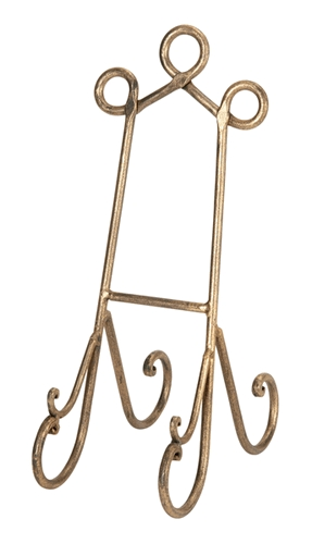Benzara 26428 15 in. Metal Easels Stands Cook Books Arts Wedding