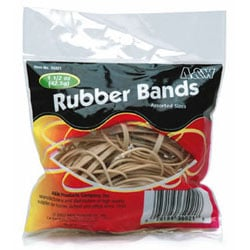 A & W Products Inc. 35021 Rubber Bands Assorted Bag