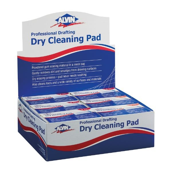 Alvin 1248D Display-dry Cleaning Pads 12pc