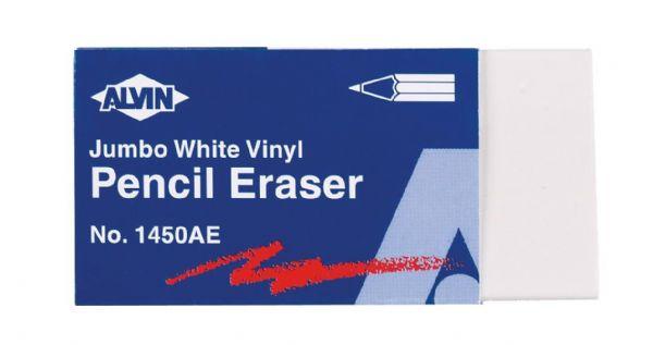 Alvin 1450AE White Vinyl Eraser Xlge 12pcs