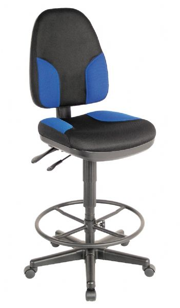 Alvin & Company Alvin CH555-85DH Draft Chair Monarch Blue & Blk at Sears.com