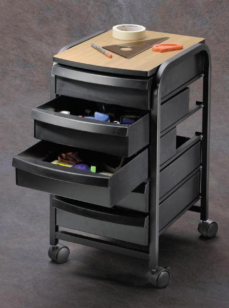 Alvin TAB33-BK Mobile Organizer Black