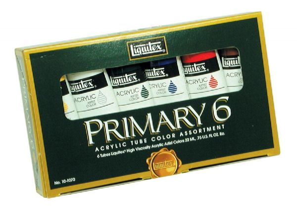 Alvin 101070 Acrylic Hi Vis Primary Set-6