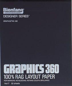 Alvin 360-1 Graphics Marker Paper 9x12