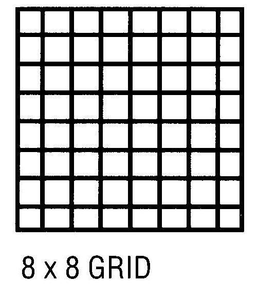 Alvin CP10002416 Grid Vel 11x17 8x8 50 Sht Pd