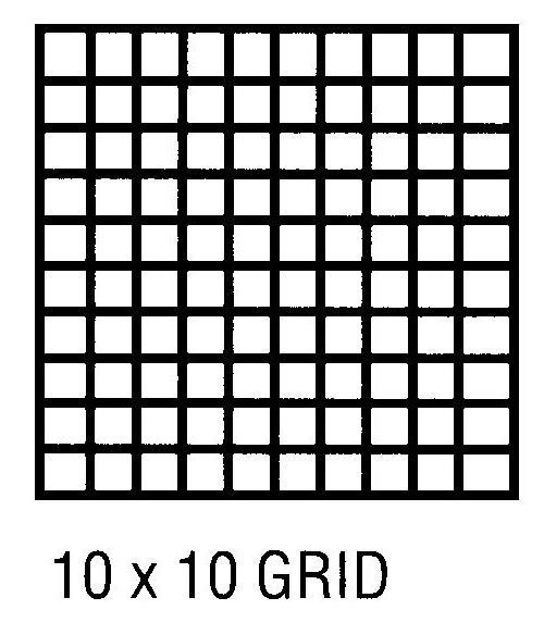 Alvin CP10003416 Grid Vel 11x17 10x10 50 Sht Pd