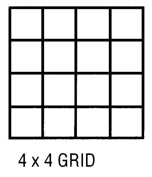 Alvin CP10204228 Grid Vellum 24x36 4x4 10sht