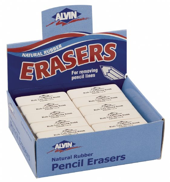 Alvin 2303AE White Rose Eraser  40pcs