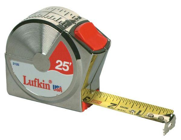 Alvin&Co L2125 25' Power Tape Measure with Convenient Top Thumb Lock