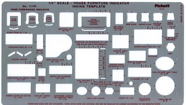 Alvin 111PI Template Furniture Indicator