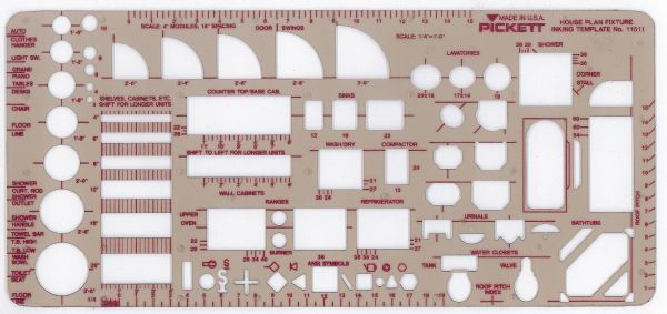 Alvin 1151I Template Home Plan Fixtures