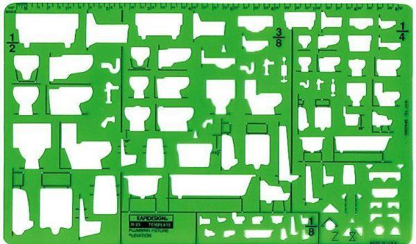 Alvin 26R Template Plumbing Fixture-plan