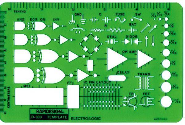 Alvin 308R Temp. Electro-logic Symbols