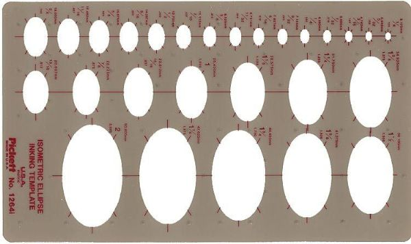 Alvin&Co 1264I Template Isometric Ellipse