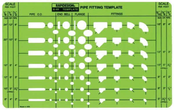 Alvin&Co 49R 5 Pipe Fitting Template