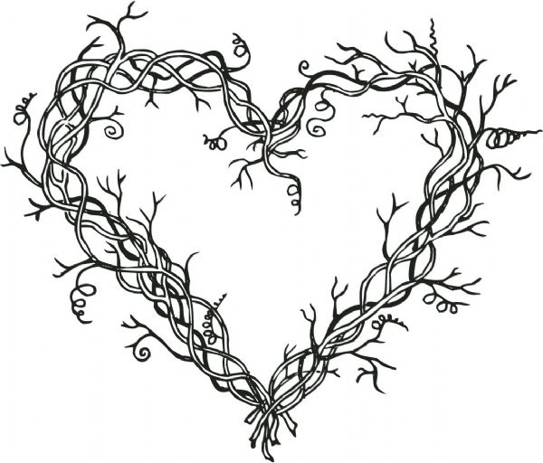 "Alvin&Co SSH-3460 4"" Heart Wreath Stamp"