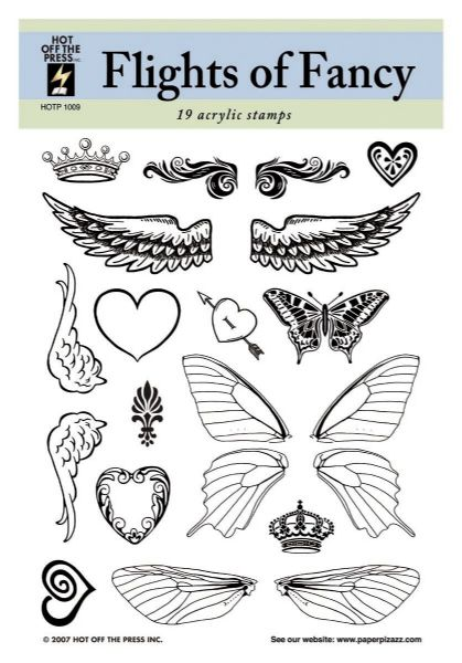Alvin HOTP1009 Clear Stamps Flights Of Fancy