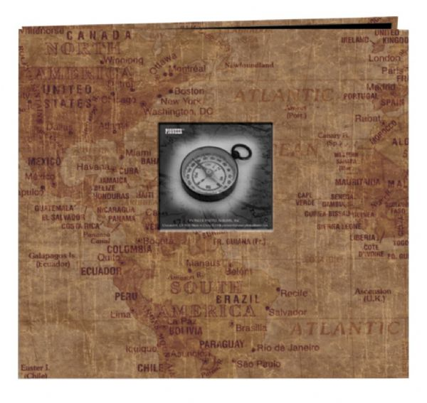 Alvin MB10MAPW 12x12 Postbnd Album World Map