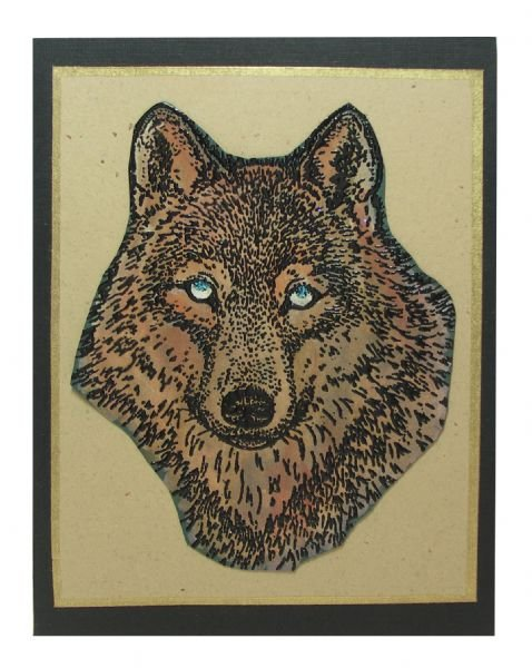 Alvin SSL-3008 Wolf Face Large Stamp