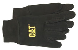 Boss-Cat Gloves CAT015400L Black Jersey with Microdot Palm Large