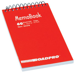 Roadpro 92378 Notebook 3x5 Top Opening