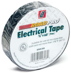Roadpro RPHH-808 Electrical Tape 3 - 4 In x 60 Ft Black